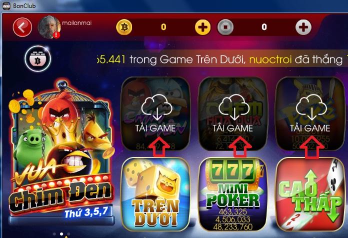 Tải game BonClub về máy tính miễn phí và cài đặt cực đơn giản