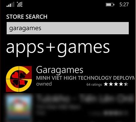 Chơi game bài Sảnh Rồng trên hệ điều hành Windows Phone tiện lợi