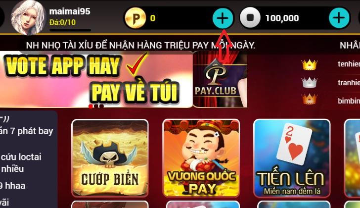 Cách nạp thẻ Pay.club đơn giản, nhanh chóng, dễ dàng icon