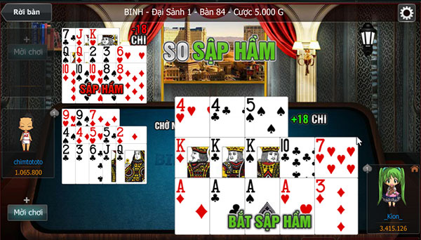 Hình ảnh 6 truong hop dac biet chi co trong game mau binh doi thuong 1 in 6 Trường hợp đặc biệt chỉ có trong game mậu binh đổi thưởng