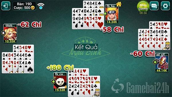 Hình ảnh huong dan choi mau binh online hay nhat in Game đánh bài đổi thưởng, đổi thẻ vip 52