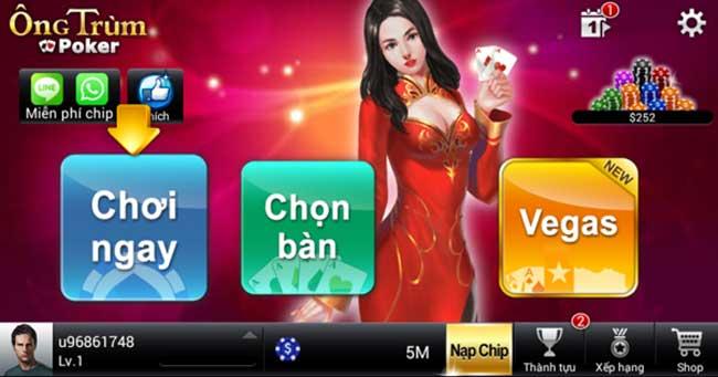 Hình ảnh tai game ong trum poker doi thuong cho dien thoai android va ios in Tải game Ông Trùm Poker đổi thưởng cho điện thoại Android và Ios
