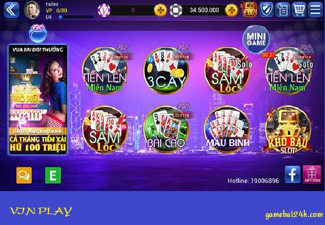 Hình ảnh 5k in Vinplay – Cổng game bài mới nổi vô cùng chất lượng