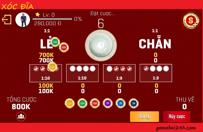 Luật chơi xóc đĩa online đổi thưởng trên các sòng bài trực tuyến icon