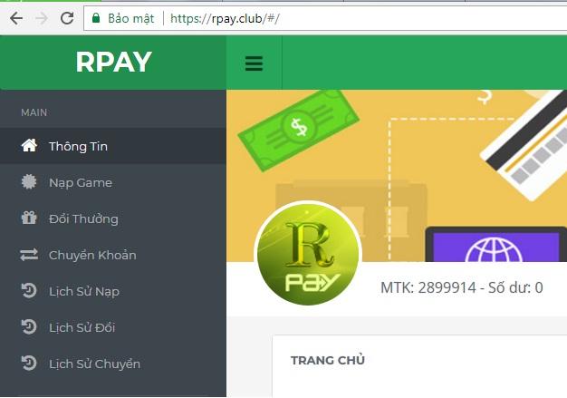 Trum club- cổng thanh toán RPAY mới được cho ra mắt icon
