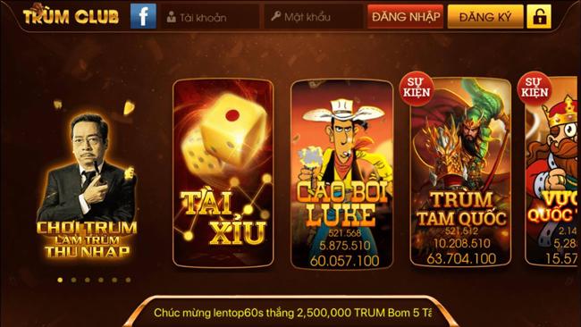 Hình ảnh tai trum club cong game danh bai dang cap nhat viet nam 2 2 in Tải Trum club - Cổng game đánh bài đằng cấp nhất Việt Nam
