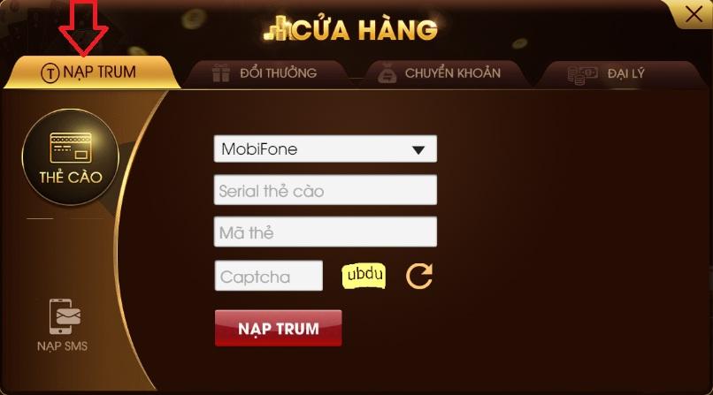 Hướng dẫn cách nạp Trum chi tiết trên cổng game Trum.club icon