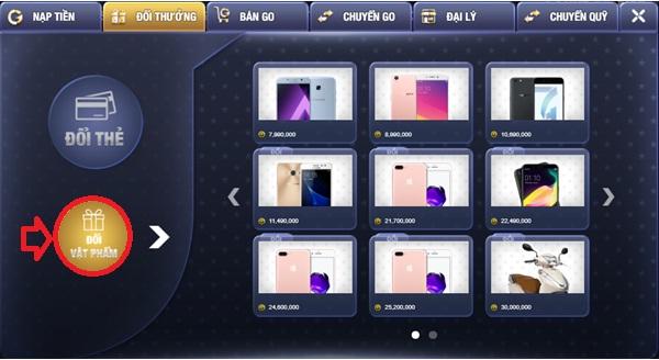 Hướng dẫn đổi thưởng trên Go.Win chi tiết nhất icon