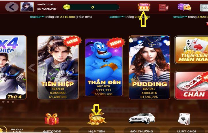 Vua tài xỉu- hướng dẫn nạp thẻ trên Vua tài xỉu chi tiết icon