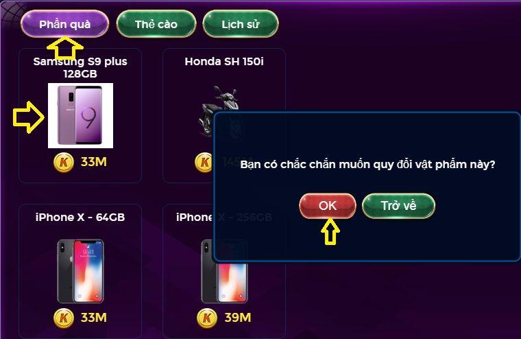 Hình ảnh 6b compressed in Hướng dẫn đổi thưởng trên Kizclub, đổi thẻ, đổi vật phẩm