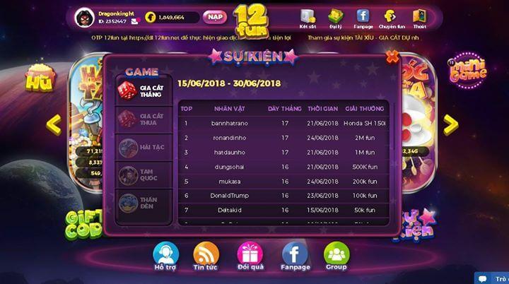 Hình ảnh 12fun game bai doi thuong in 12 Fun – Game bài đổi thưởng đa nền tảng mới ra mắt
