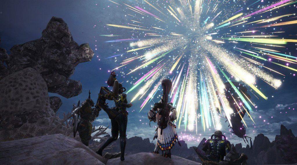 Hình ảnh Monster Hunter World Summer Festival Fireworks 1024x569 in Monster Hunter World và thế giới quái vật khổng lồ