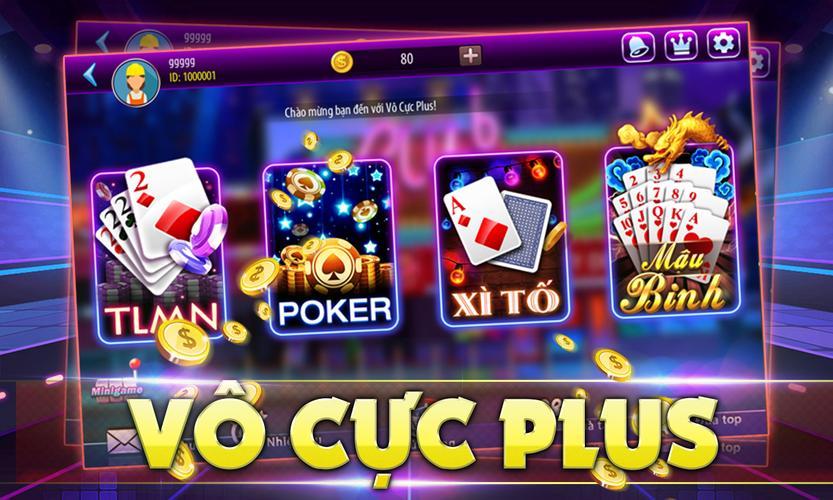 Vô Cực Plus game đánh bài online nhận xu chất lượng miễn phí icon