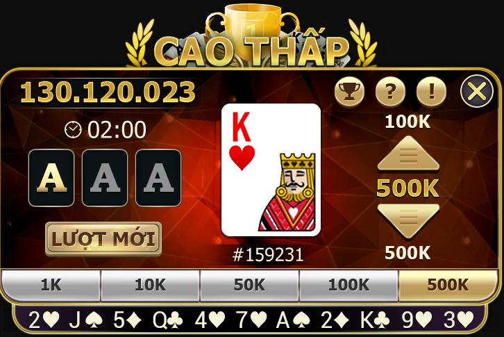 Hình ảnh Screenshot_17 in 2 ưu điểm vượt trội của game bài cao thấp đổi thưởng số 1 Việt Nam