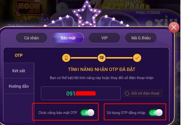 Hình ảnh Screenshot_30 1 in Cách cập nhật thông tin và bảo mật tài khoản tại game Ngon Club