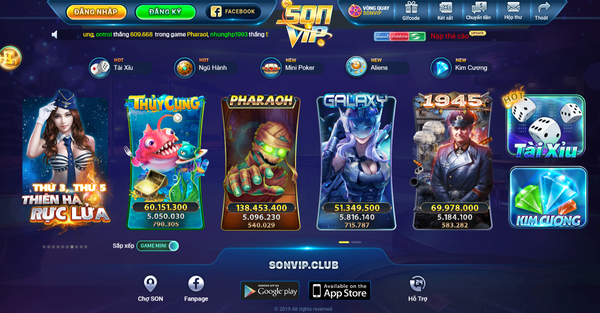 Hình ảnh Sonvip 03 in Tải Sonvip. Club- game slot đổi thưởng uy tín 2019