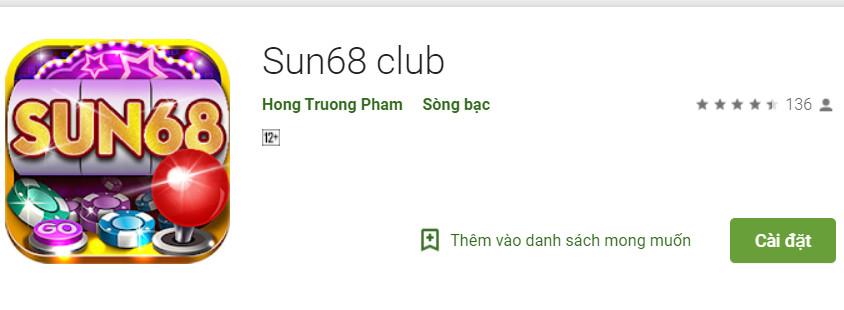 Hình ảnh sun68 club1 in Tải Sun68 Club- game bài đổi thưởng đỉnh cao hot nhất 2019