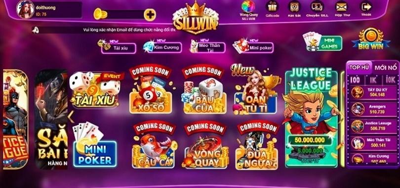Hình ảnh  in Game bài Sill Win – Cổng đổi thưởng quốc tế chất lượng vượt trội