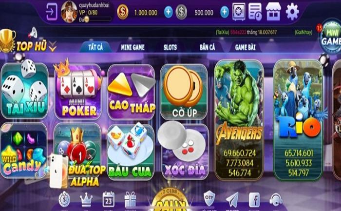Hình ảnh game zclub vin in Tải game Zclub Vin- Game bài nạp đổi thưởng siêu tốc