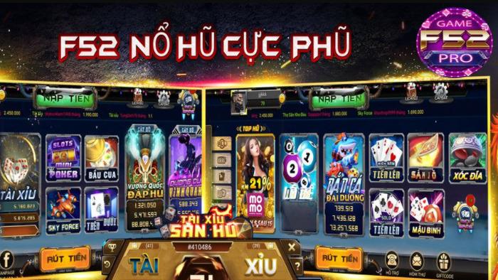 Hình ảnh game f52 pro in Game F52 Pro – Cổng đổi thưởng uy tín hàng đầu Việt Nam